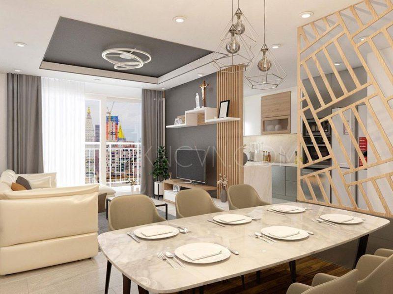 Kiến Nhật thực hiện thi công nội thất căn hộ Tropic Garden - Ảnh: Internet