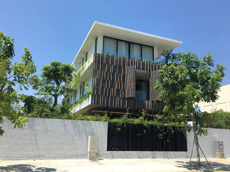 Biệt thự Đà Nẵng sử dụng gỗ nhựa ngoài trời Kankyo Wood II