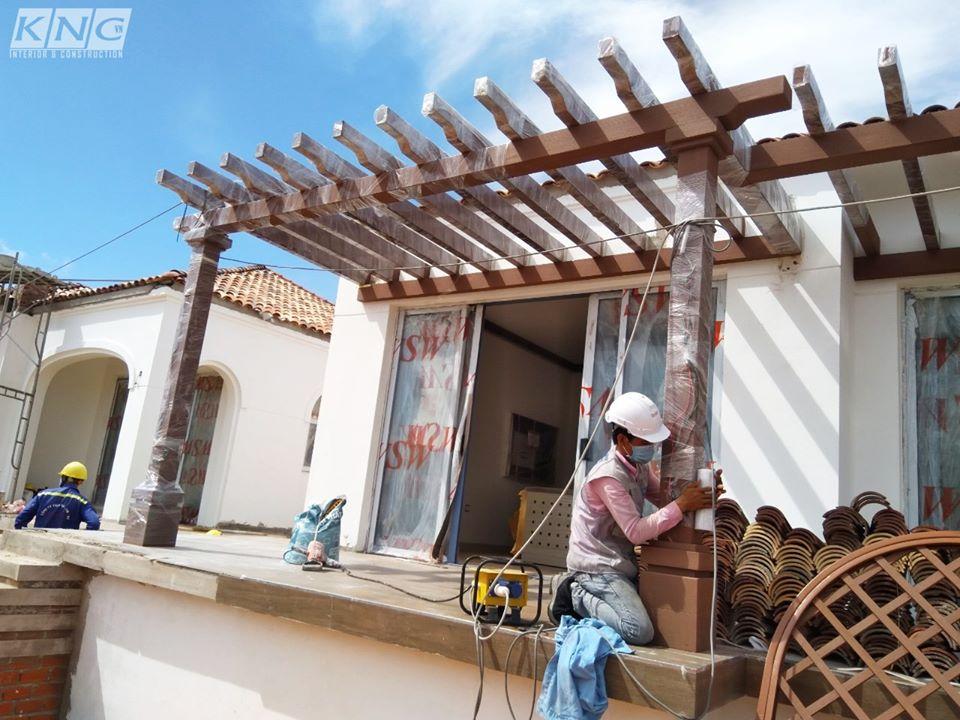 Gỗ Kankyo Wood được sử dụng trong dự án NovaHills Mũi Né - Ảnh: Kiến Nhât