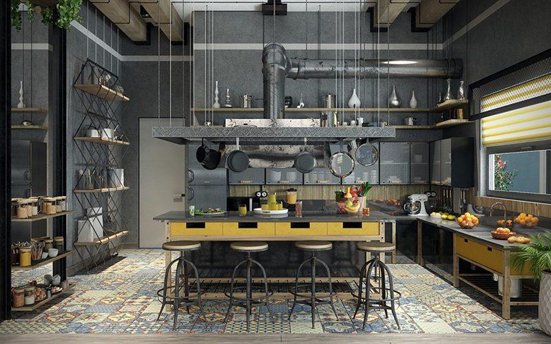 Phong cách nội thất công nghiệp thể hiện sự đơn giản, tinh tế - Ảnh: Internet